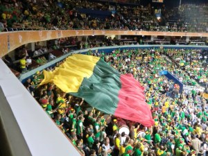 Litauenfahne in der Siemens-Arena