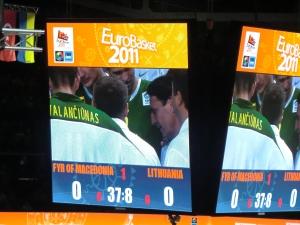 Würfel in der Kaunas-Arena